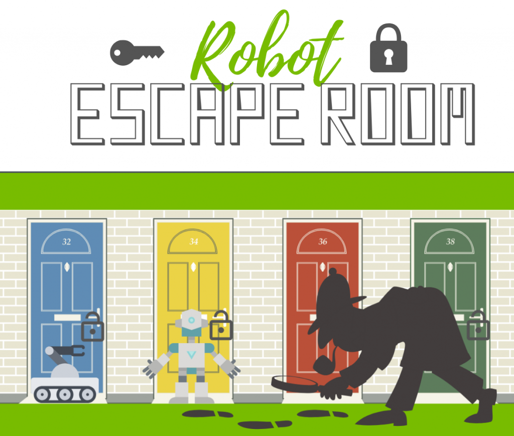 robot escape room summer camp