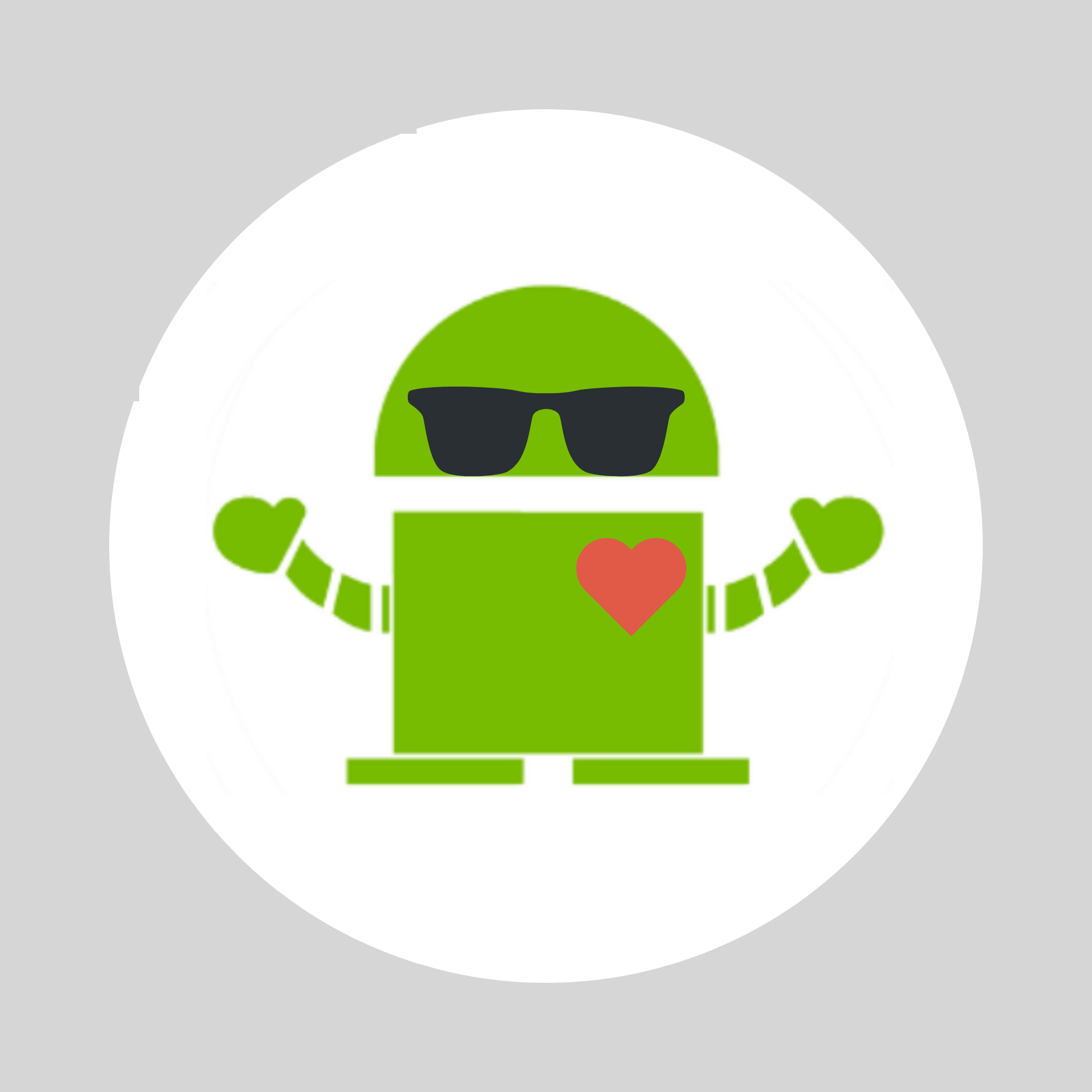 summer camp robot icon