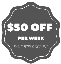 $50 off per week (early-bird discount)