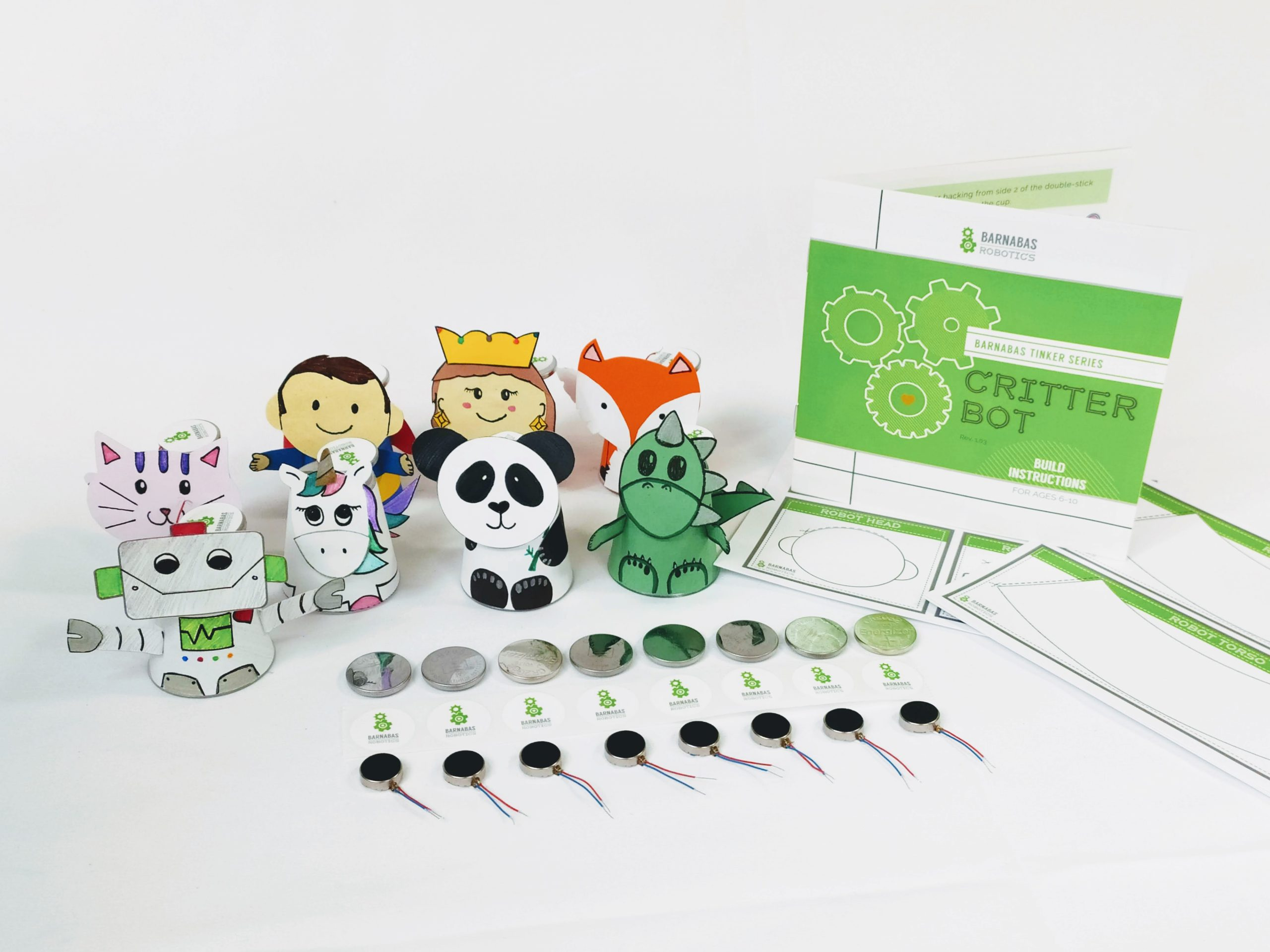 Critter bot (8-pack) craft robot kit